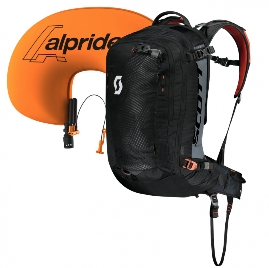 Scott Backcountry Guide AP 30 Kit - Inflated Airbag - Black/Burnt Orange