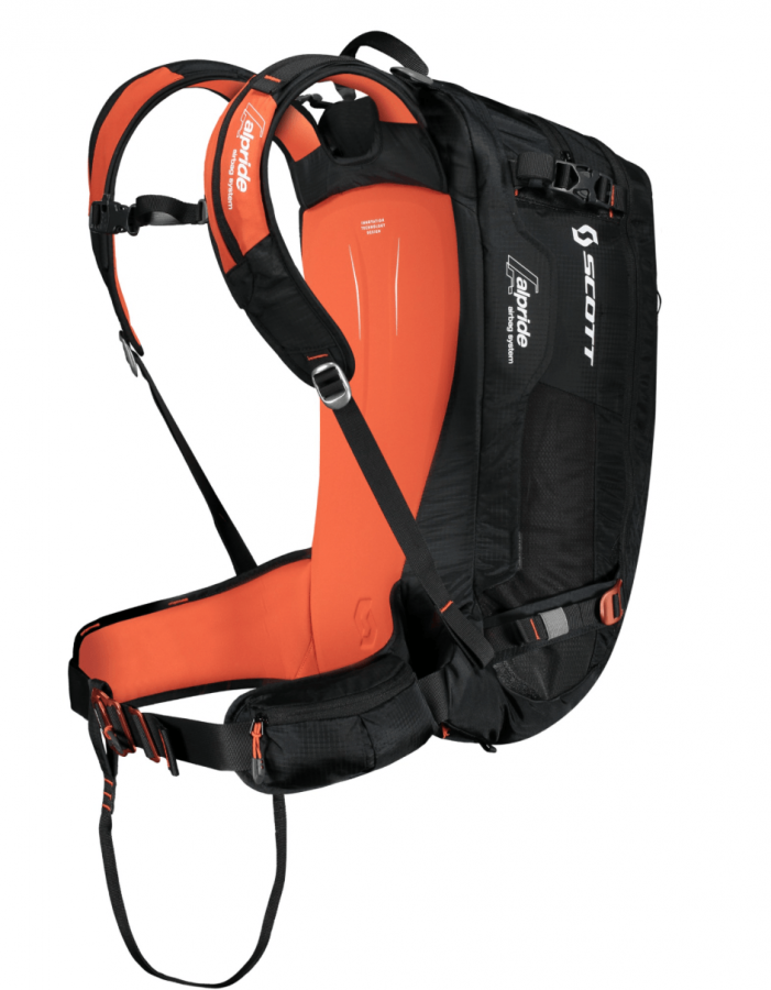 Scott Backcountry Guide AP 30 Kit - Back View - Black/Burnt Orange