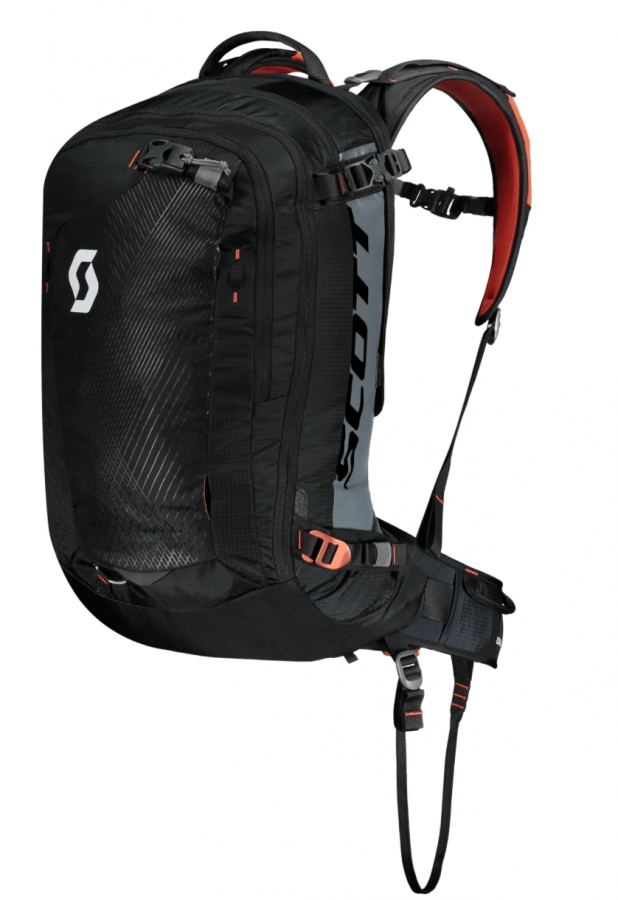 Scott Backcountry Guide AP 30 Kit - Front View - Black/Burnt Orange