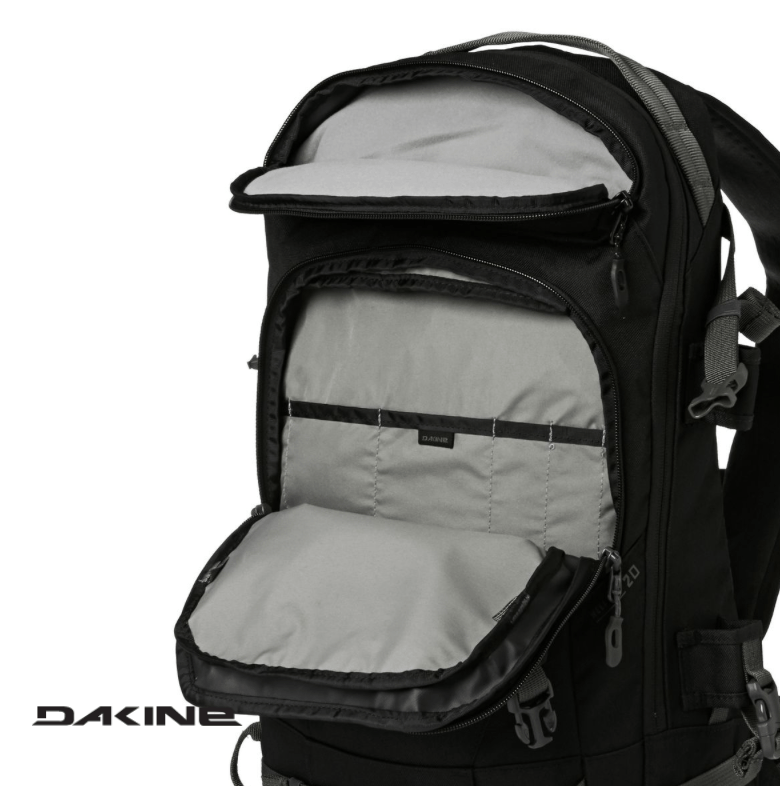 Dakine Heli Pro 20L - Empty goggle & shovel/probe pocket - Black