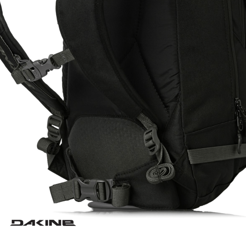 Dakine Heli Pro 20L - 25 mm wide Hip fins - Black