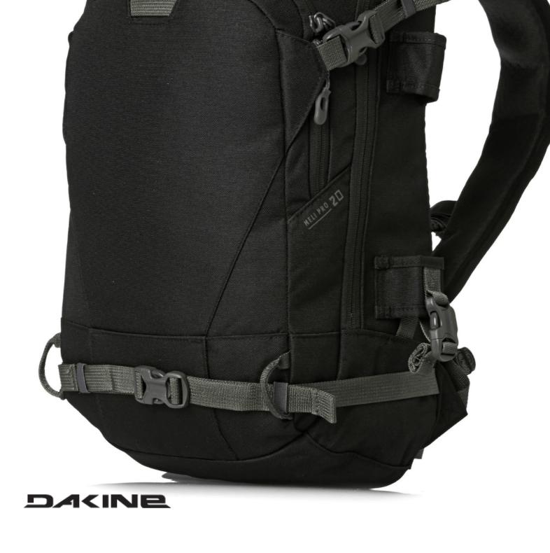 Dakine Heli Pro 20L - Snowboard Straps - Black