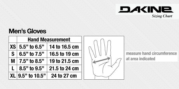 Dakine Wrist Guard - Size Guide