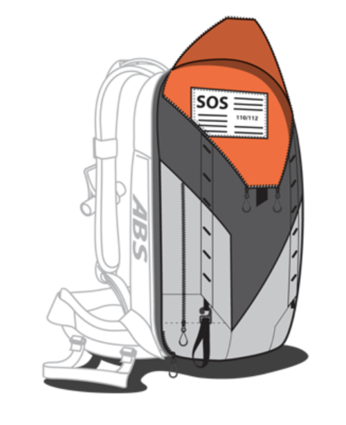 ABS P.Ride 18L Zip-on Backpack Only - SOS Signal
