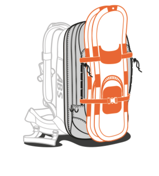 ABS P.Ride 18L Zip-on Backpack Only - Snowshoe Fastener