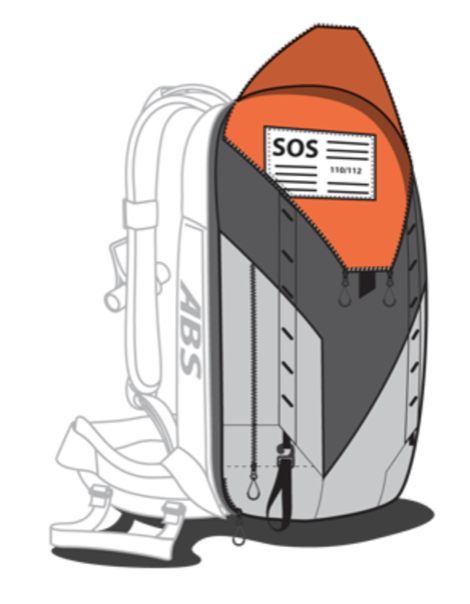 ABS P.Ride 45+5L Zip-on Backpack Only - SOS Signals