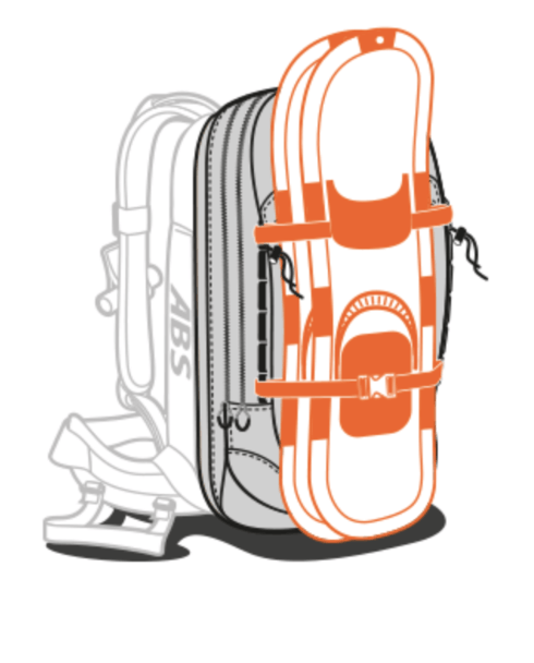 ABS P.Ride 45+5L Zip-on Backpack Only - Snowshoe Fastener