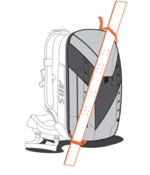 ABS P.Ride Base Unit + 18L Zip-on - Diagonal Ski Carry
