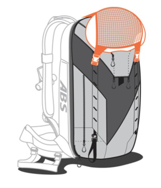 ABS P.Ride Base Unit + 18L Zip-on - Helmet Mount