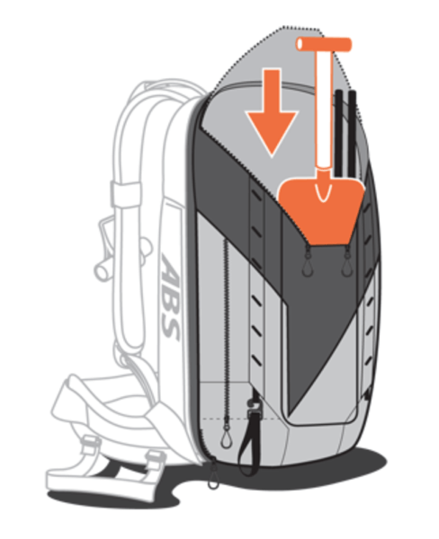 ABS P.Ride Base Unit + 45+5L Zip-on - Safety Compartment