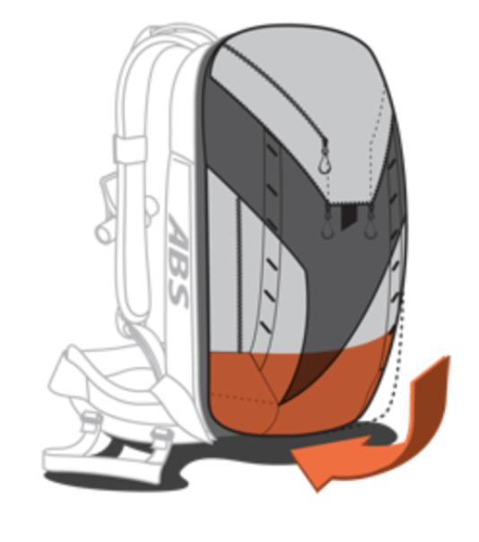 ABS P.Ride Base Unit + 45+5L Zip-on - Compression