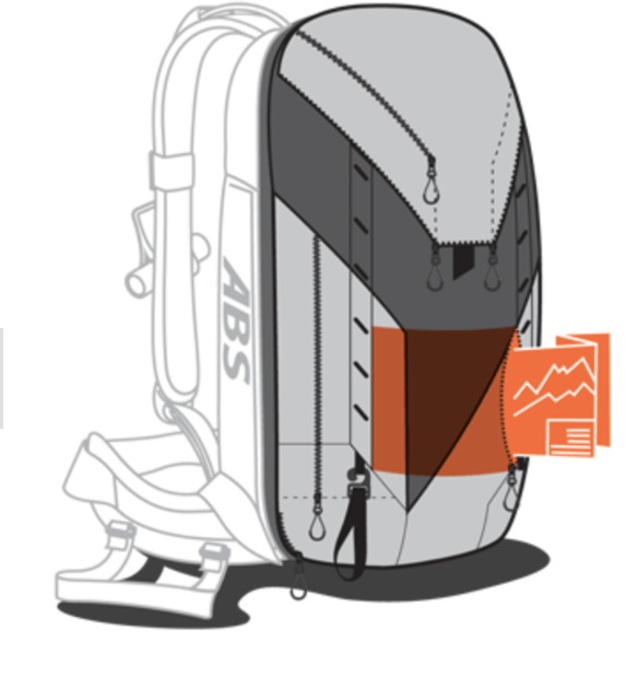 ABS P.Ride Base Unit + 45+5L Zip-on - Map Pocket