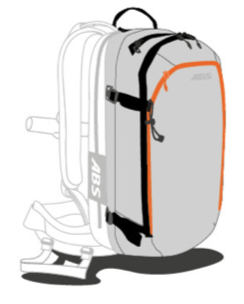ABS s.Light 30L Zip-on Backpack Only - Extra Safety Compartment