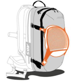 ABS s.Light Base Unit + 30L Zip-on - Helmet Mount