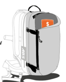 ABS s.Light Base Unit + 30L Zip-on - Valuables Pocket