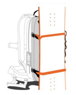 ABS s.Light Base Unit + 30L Zip-on - Snowboad Mount