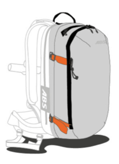 ABS s.Light Base Unit + 30L Zip-on - Compression Straps