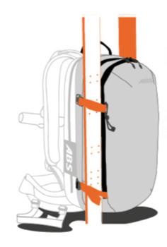 ABS s.Light Base Unit + 30L Zip-on - Side Ski Mount