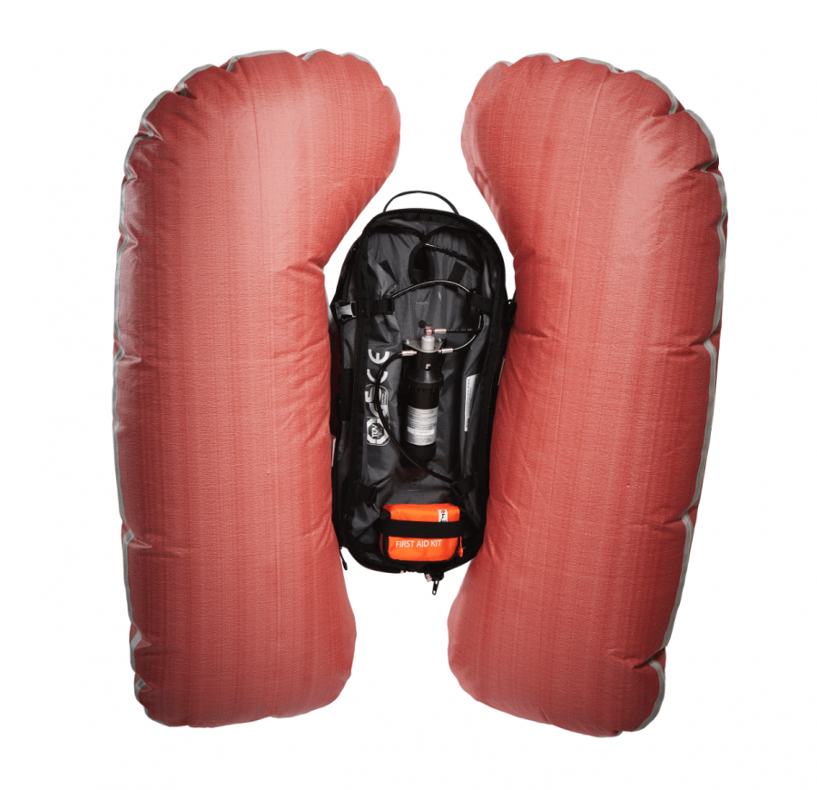 ABS s.Light Base Unit + 30L Zip-on - Inflated Airbag
