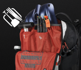 Scott Backcountry Patrol E1 30 Kit - Avalanche Rescue Tool Compartment