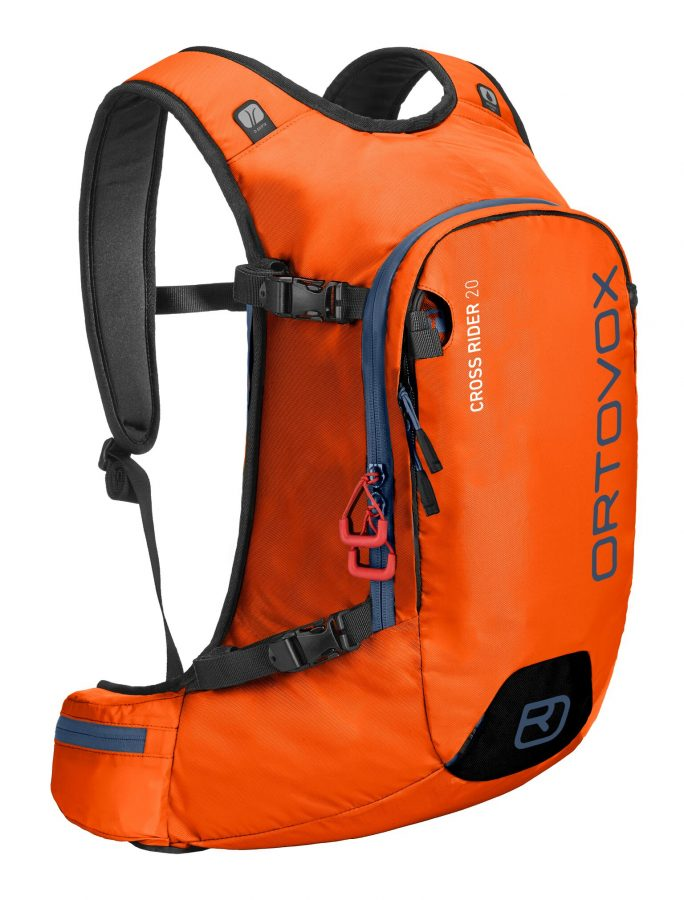 Ortovox Cross Rider 20 - Front View - Crazy Orange