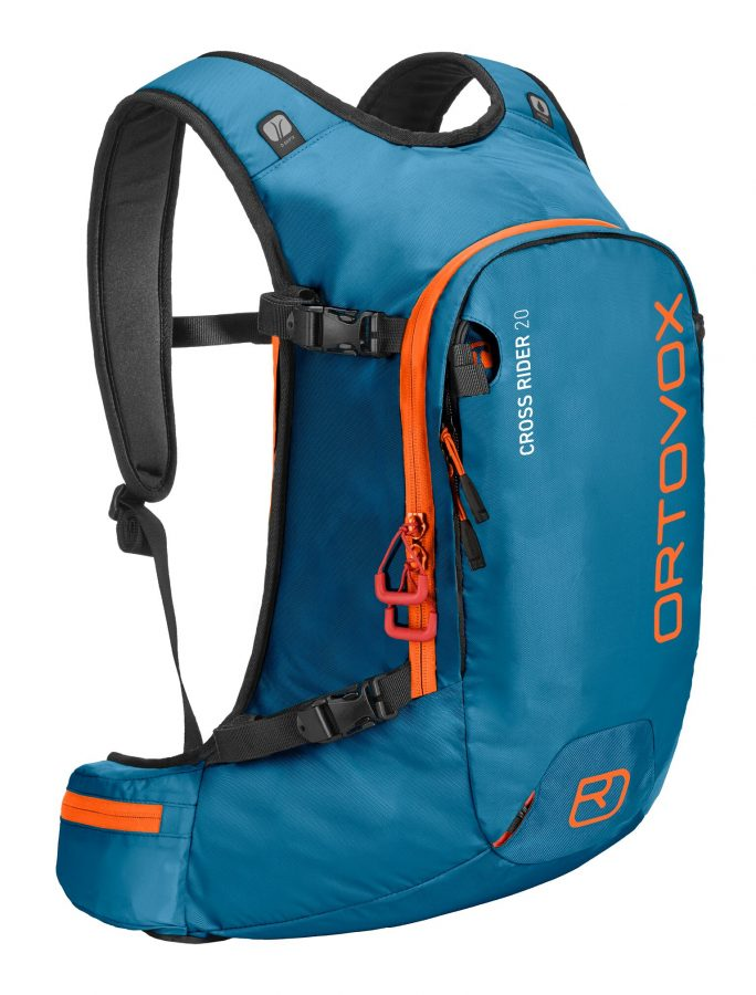 Ortovox Cross Rider 20 - Front View - Blue Sea