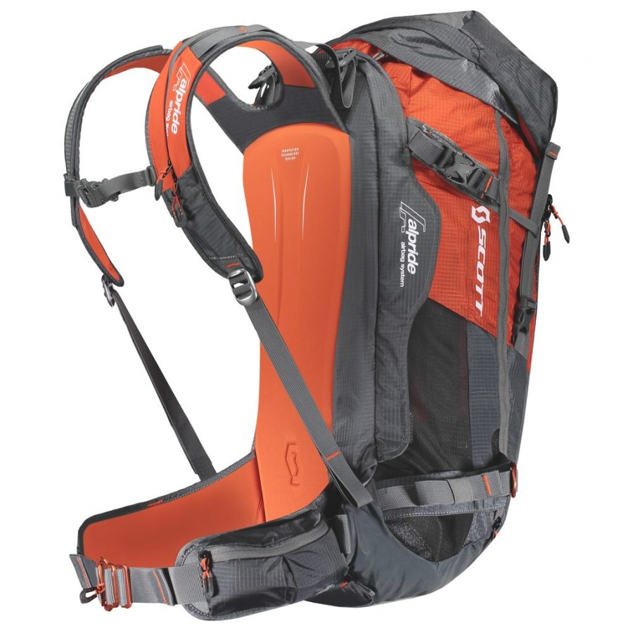 Scott Backcountry Guide AP 40 Kit - Back View - Non Inflated Airbag