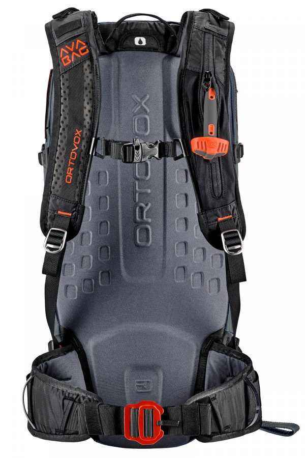 Ortovox Ascent 30 Avabag - Non Inflated - Back View - 3D Foam Back Plate