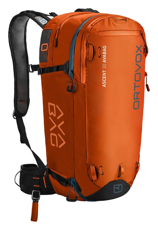 Ortovox Ascent 30 Avabag Backpack - Front View - Crazy Orange