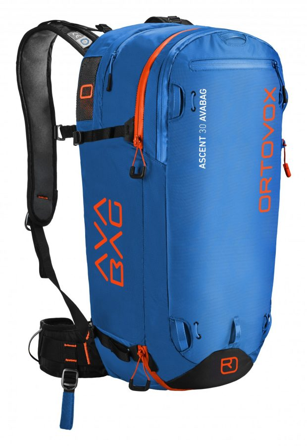 Ortovox Ascent 30 Avabag Backpack - Front View - Strong Blue