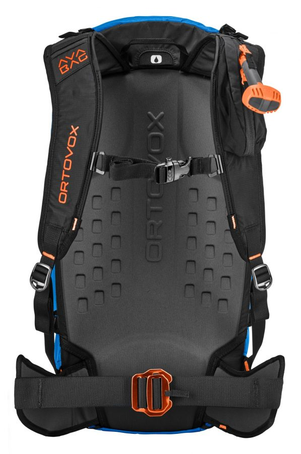 Ortovox Ascent 40 Avabag Backpack - Back View - Safety Blue - 3D Foam Back plate