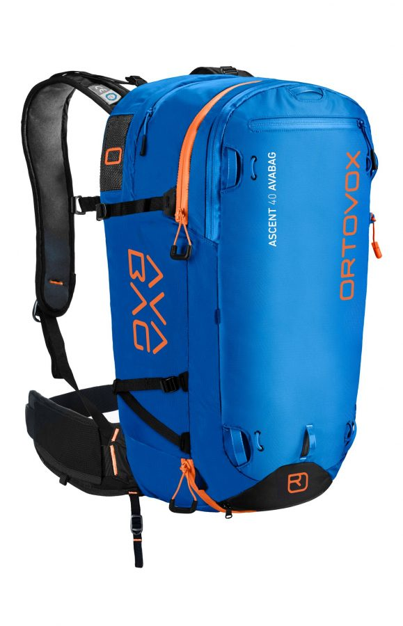Ortovox Ascent 40 Avabag Backpack - Front View - Safety Blue