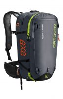 Front View - Black Anthracite - Ortovox Ascent 40 Avabag Backpack