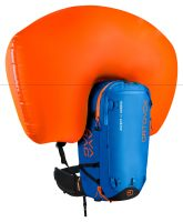 Front View - Inflated airbag - Safety Blue - Ortovox Ascent 40 Avabag
