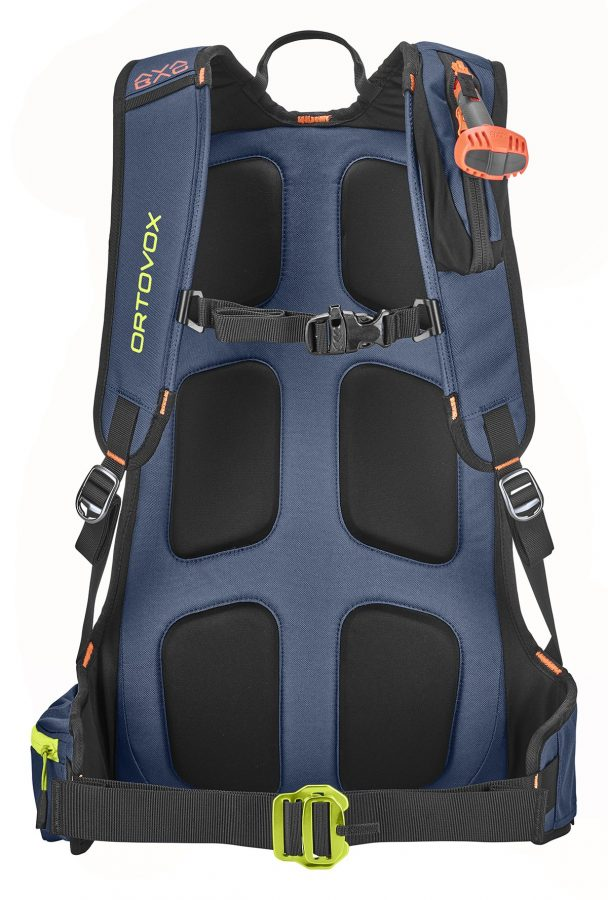 Ortovox Cross Rider 18 Avabag Backpack - Back View - Padded back system - Night Blue