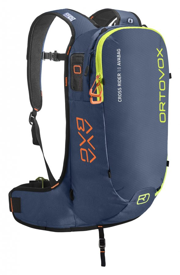 Ortovox Cross Rider 18 Avabag Backpack - Front View - Non Inflated - Night Blue