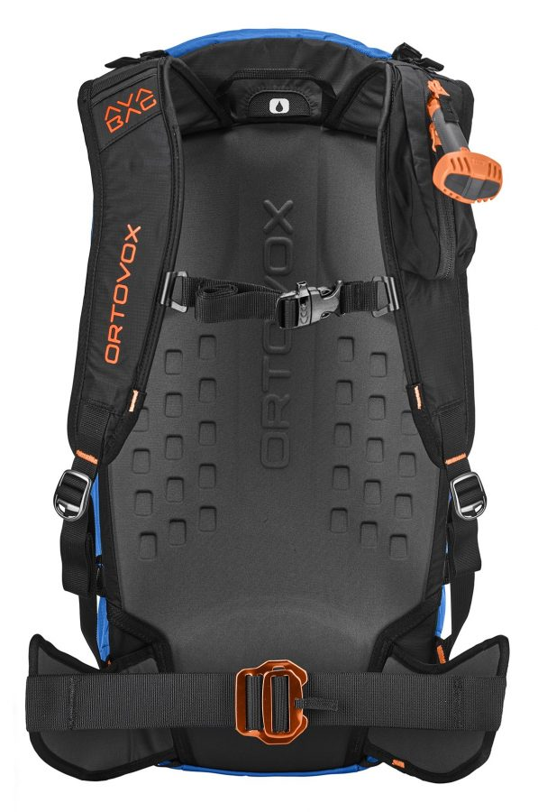 Ortovox Ascent 38 S Avabag Backpack - Back View - Mid Aqua - Non Inflated