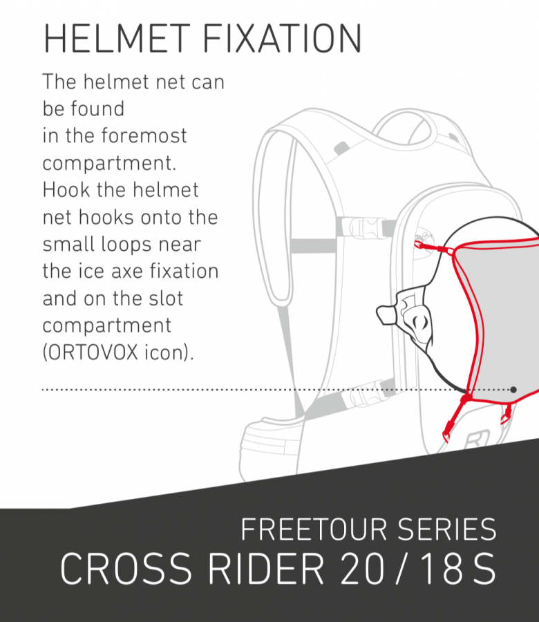 Ortovox Cross Rider 20 - Helmet Net Fixation