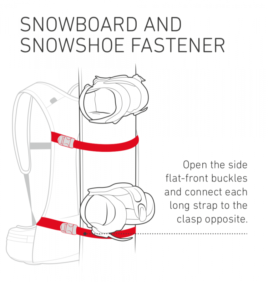 Ortovox Cross Rider 20 - Snowboard and Snowshoe Fastener