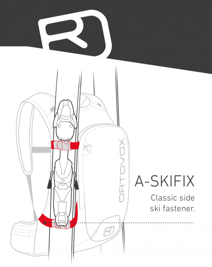 Ortovox Crossrider 20 - A-Frame Ski Carry Method