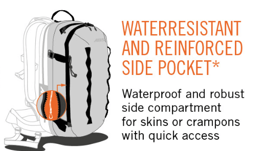 ABS P.Ride Compact 18 L Zip-on - Water Resistent Zippers - Reinforce Side Pocket