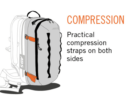 ABS P.Ride Compact 18 L Zip-on - Compression Straps