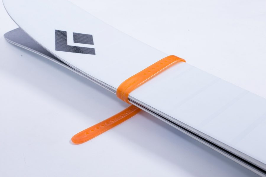 Black Diamond Ski Strap - BD Orange - Attached Skis