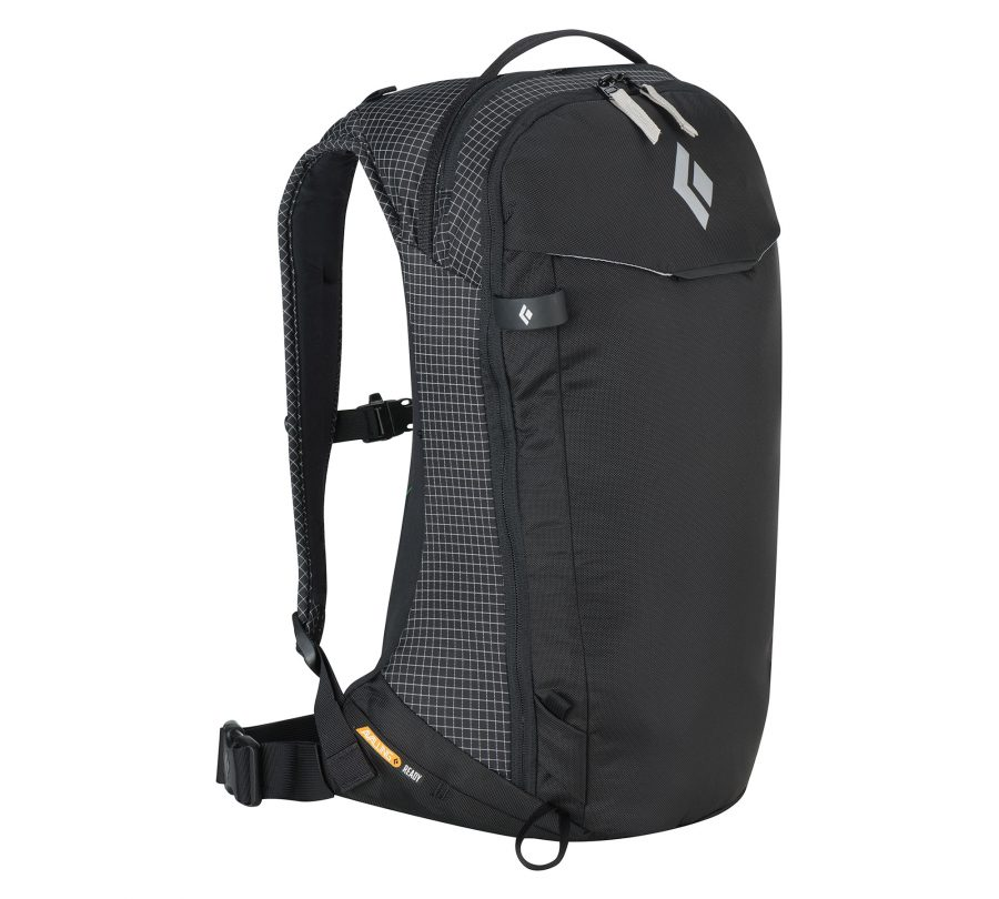 Black Diamond Dawn Patrol 15 Avalung Backpack - Front View - Black