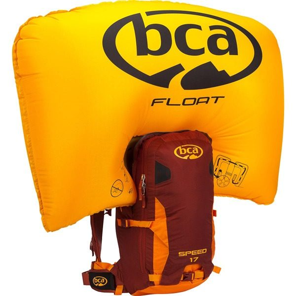 BCA Float 17 Speed - Maroon/Orange - Front View - Inflated Airbag