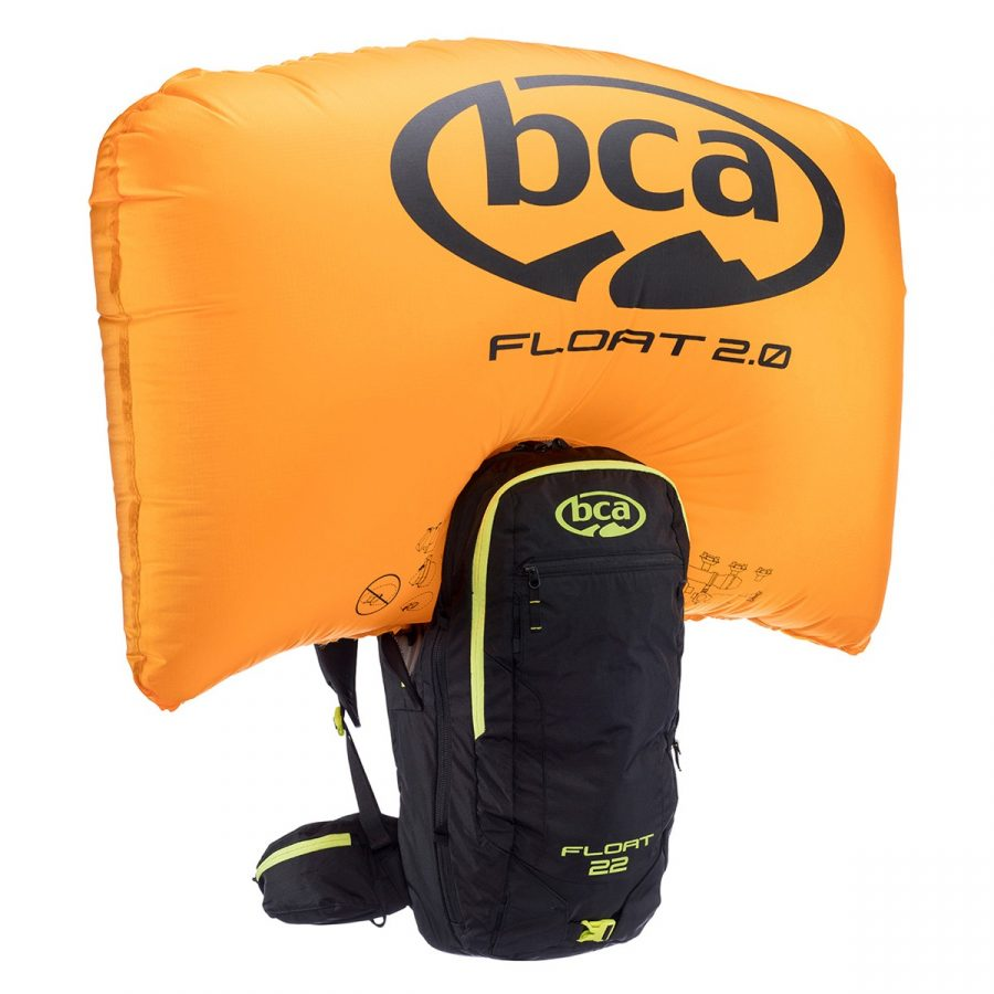 BCA Float 22 - Black/Lime - Front View - Inflated Airbag