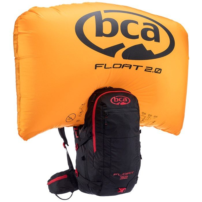 BCA Float 32 - Black/Red - Front View - Inflated Airbag