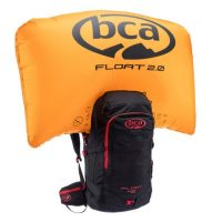 BCA Float 42 - Black/Red - Front View - Inflated Airbag