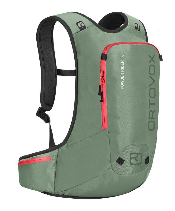 Ortovox Powder Rider 16 - Green Isar - Front View