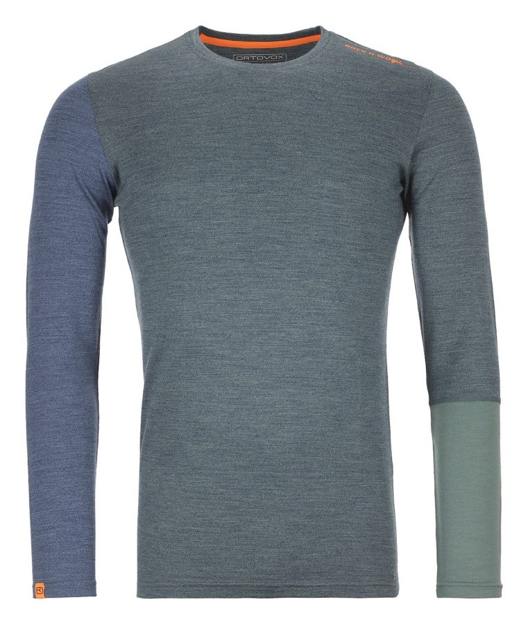 Ortovox Merino Rock n Wool Long Sleeve - Green Forest Blend